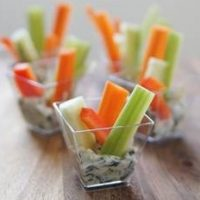 Fresh Veggie Cups with Dip