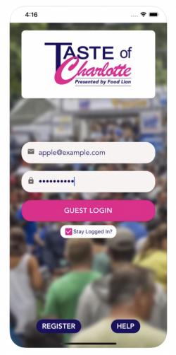 TOC App Welcome screen