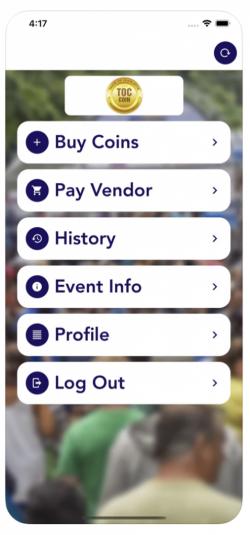 TOC app screen 1